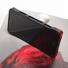 COREMECHATEC MOBiCRAB メタルバンパー for iPhone5(ブラック+レッド) RX-IP5MB-BKRD