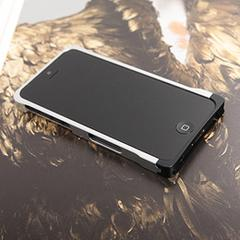 COREMECHATEC MOBiCRAB メタルバンパー for iPhone5(シルバー+ブラック) RX-IP5MB-SLBK