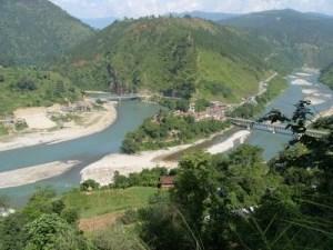 Indrawati - Trishul confluence at Dolalghat