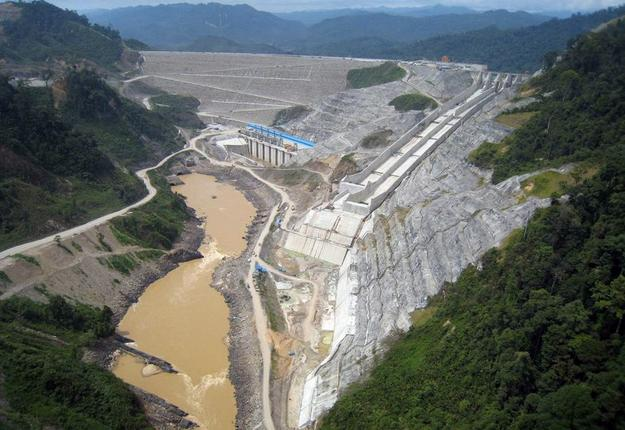 A 2009 file photo shows the environmental destruction of the Bakun hydroelectric dam project in Sarawak, on the Balui River. A massive tract of Borneo jungle, an area the size of Singapore, disappeared under the waters of the Bakun dam, a multi-billion-dollar project that forced thousands of indigenous people off their ancestral lands. The World Bank plans to again push for massive hydropower projects in developing countries.