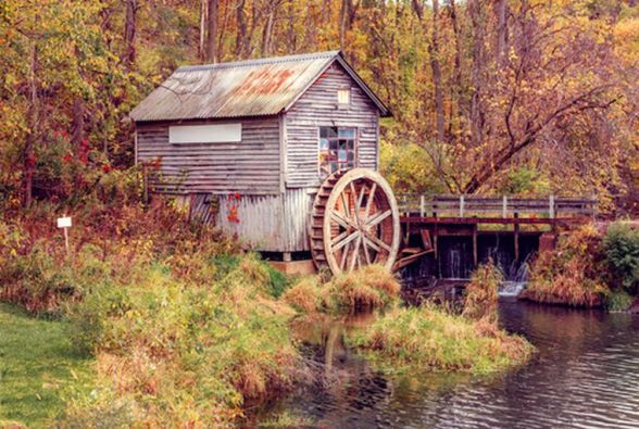 The traditional European mill race was formed from a dam, almost as natural as those of the beaver. Here Wisconsin is treated to a preserved mill from the good ol' days. Modern dams have their useful features too, but more destruction of habitat is necessarily involved;