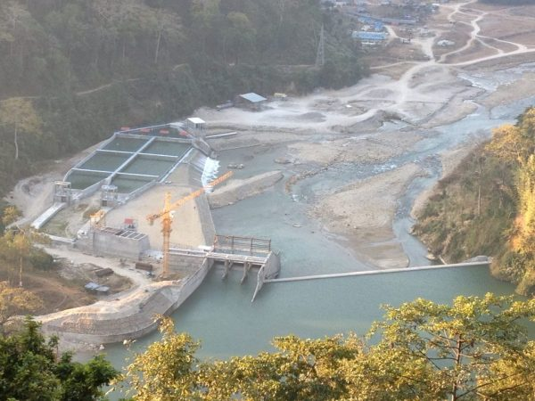A 22 MW, Mai Hydropower Project : Bird eye view of its Headworks.
