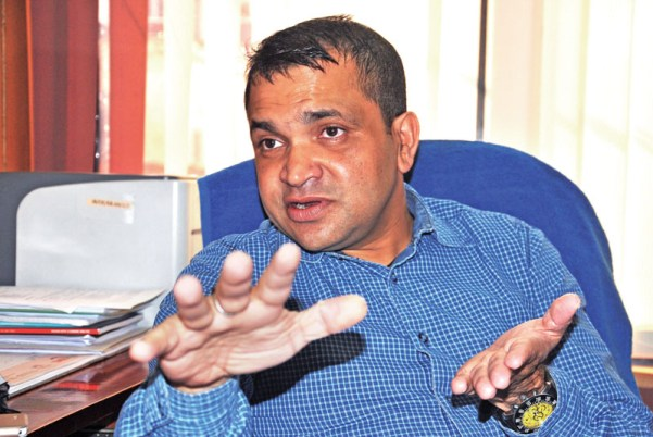 The CEO of Hydroelectricity Investment and Development Company Limited (HIDCL) Deepak Rauniar reveals the company's plans in mobilising resources for developing hydroelectric and transmission line projects,in Babarmahal, Kathmandu on Sunday, August 7, 2016. PHOTO: Balkrishna Thapa Chhetri/THT