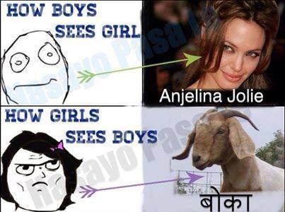 How boys see girls vs how girls see boys!