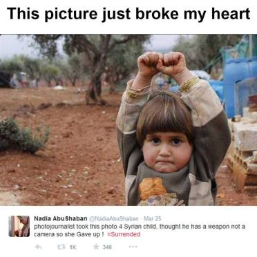 Syrian Child: She Surrendered Thinking Camera As Weapon