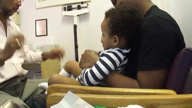 This Rockstar Doctor Can Make Baby Laugh While Getting Shots