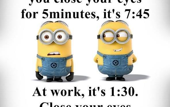 5 minutes in bed vs 5 minutes at work