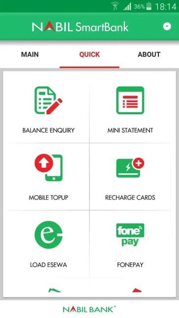 Nabil smart app Mobile Topup
