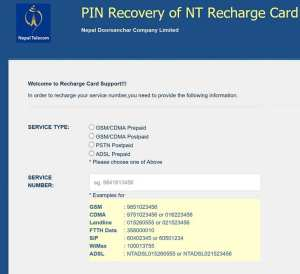 Pin recovery Ntc recharge card