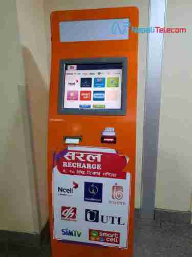 Kiosk machine for recharge bill payment