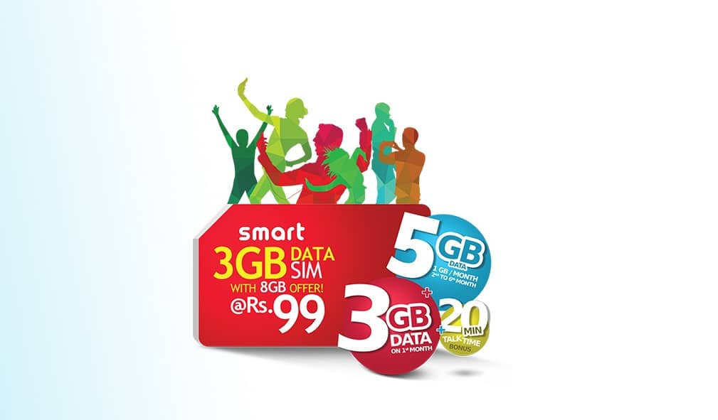 Smart Cell offer 3GB data SIM