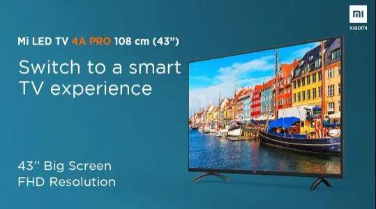 MiTV 4A Pro display