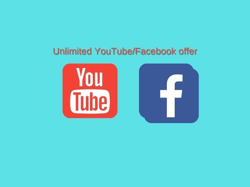 Unlimited Facebook, YouTube pack