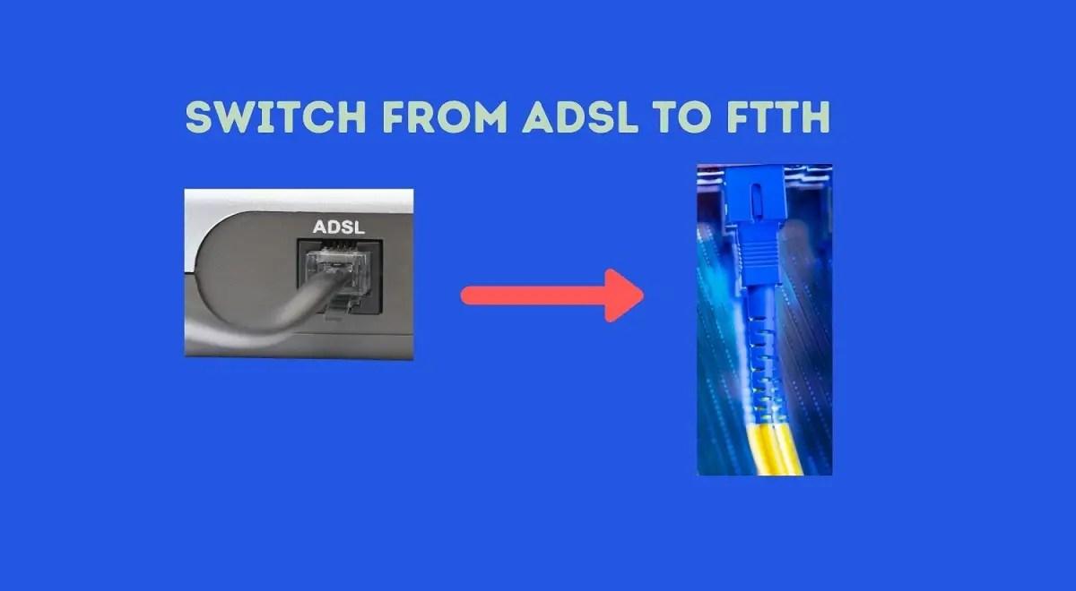 Convert ADSL to Fiber