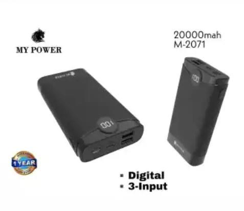 MY POWER 20000mAh M2071, Digital Powerbank