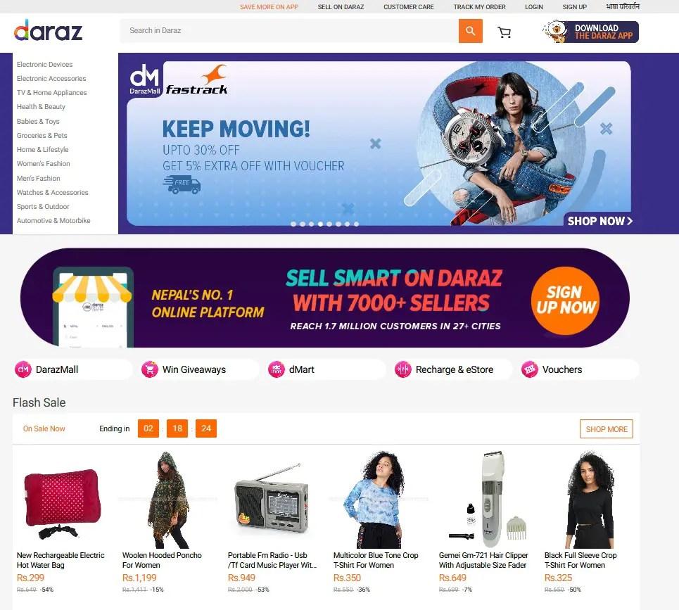 Daraz online shopping in Nepal