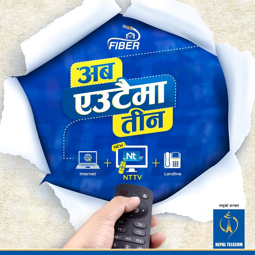 Nepal Telecom Triple play service over fiber