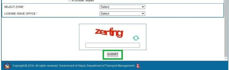 confirmation driving license form