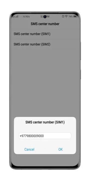 change-mobile-message-center-number-to-solve-sms-problem