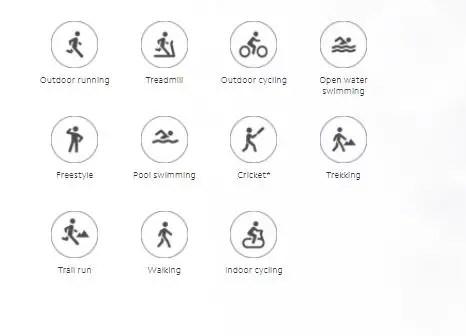 Mi Watch Lite Sport Modes