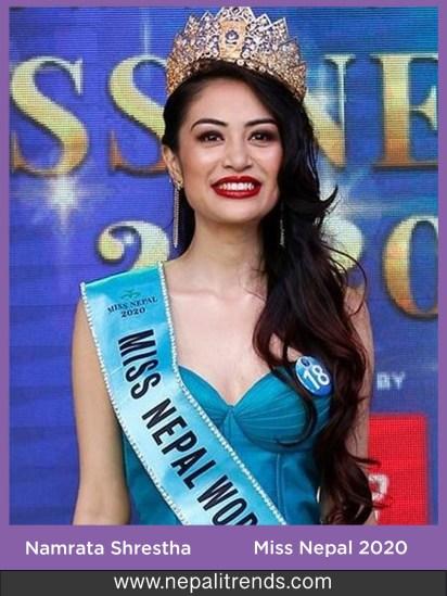 Namrata Shrestha Miss Nepal 2020