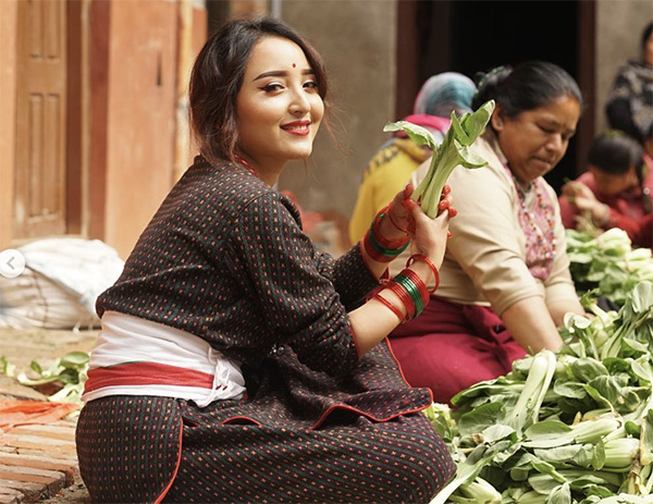 barsha karmacharya in newari dress