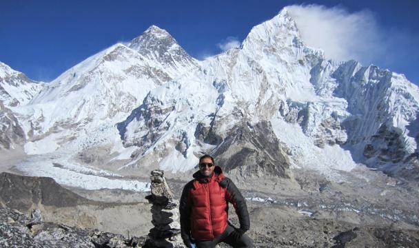Francesco Rovetta at Mt. Everest