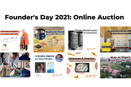 The Founder's Day 2021 auction was full of meaningful items and experiences donated by the NYF Community.