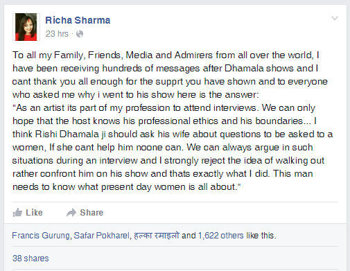 Richa Sharma   To all my Family  Friends  Media and Admirers from...