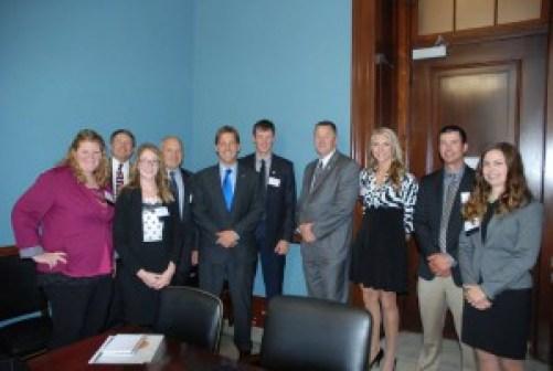 The Nebraska delegation shared meaningful conversation with Senator Sasse.