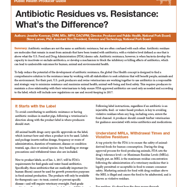 Antibiotic Residues vs  Resistance: What's the Difference