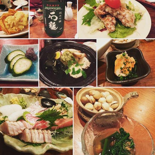 【Instagram】今夜は気の合う仲間たちと美味しい料理と日本酒を堪能します(^-^) #件 #居酒屋 #学芸大学