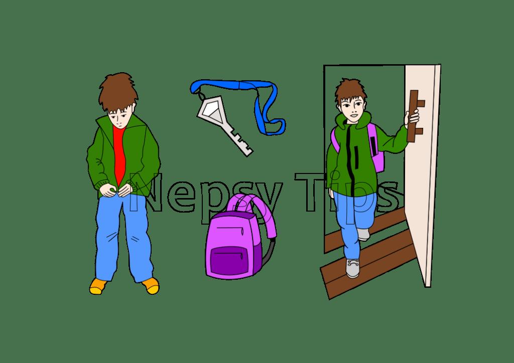 Nepsy Tips lapsen toiminnanohjauksen tukemiseen suunnitellut kuvat Koululaisen muistilistasta.