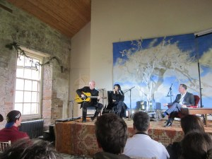 David Gilmour performs at Borris House Festival of Writing: reveals new album title Rattle That Lock. [Pic: Brain Damage]