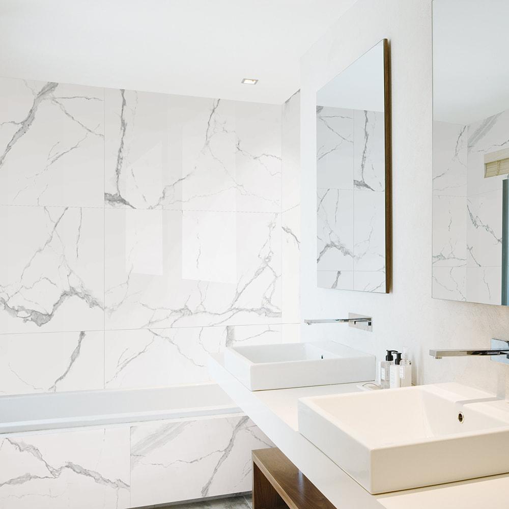 white carrara marble tile gold coast