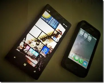 Lumia 930 und IPhone 4S Größenvergleich
