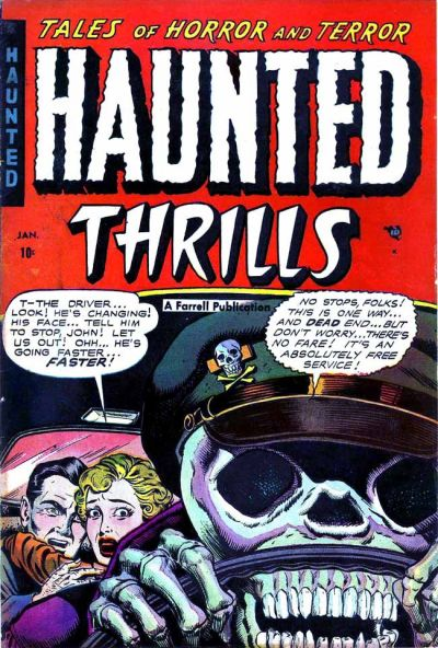 """The cover of an issue of """"Haunted Thrills"""""""