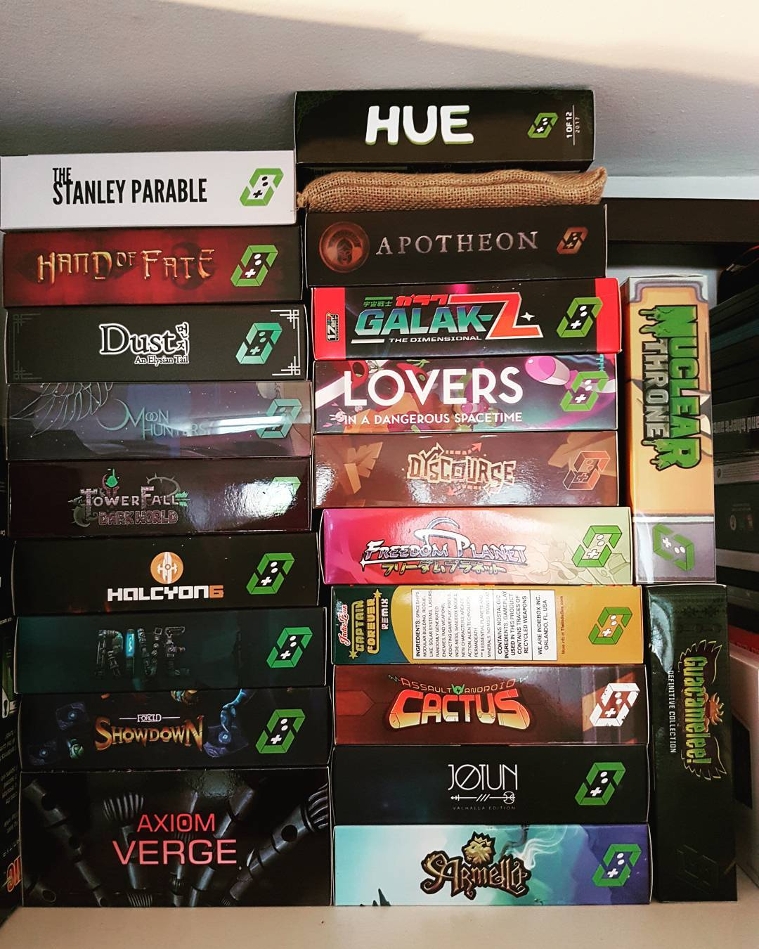 I rearranged my TheIndieBox collection so itd look nicer! BringBackTheBoxhellip