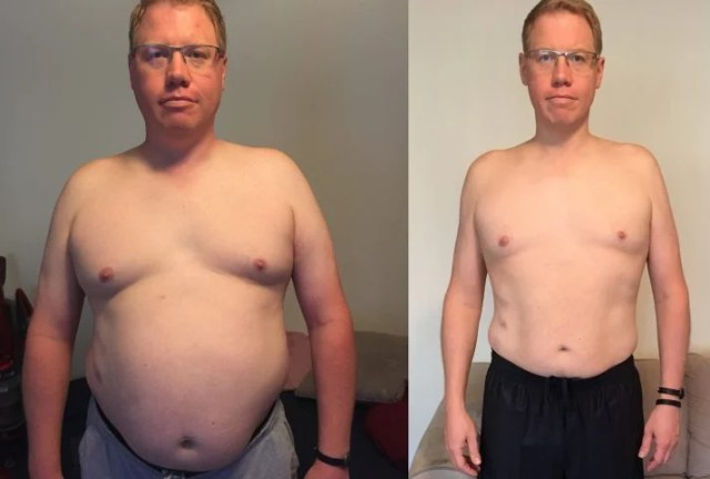 Tim burned a LOT of calories while walking and lost 50 pounds