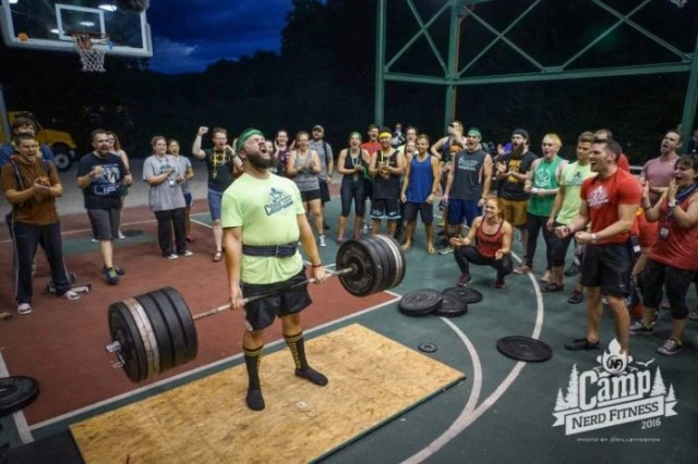 When Rebels get together like at Camp, we build workouts that include deadlifts.