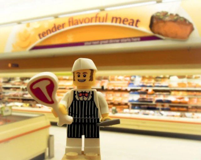 Even this LEGO character knows to eat plenty of protein to gain weight