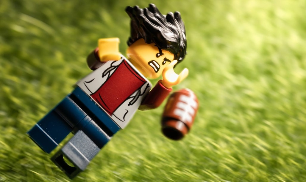 For exercises, the important thing is you enjoy it. Like this LEGO enjoys football.