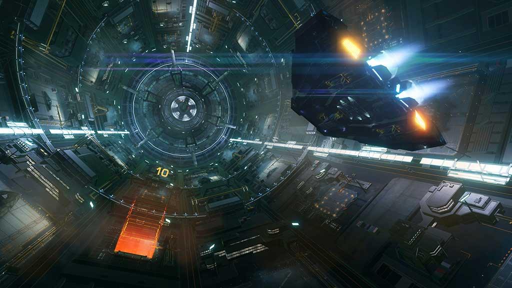 ELITE DANGEROUS gameplay screen