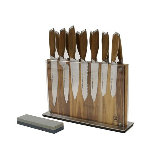 Schmidt Brothers Cutlery Schmidt Bros® Bonded Teak Series 15 Pc. Downtown Block Set
