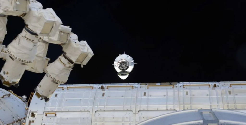 SpaceX's Crew Dragon capsule successfully docks to the ISS for the