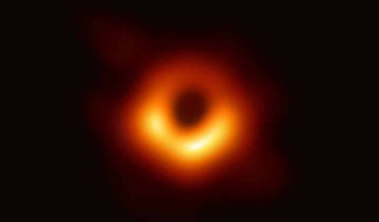 This is the first real image of a black hole
