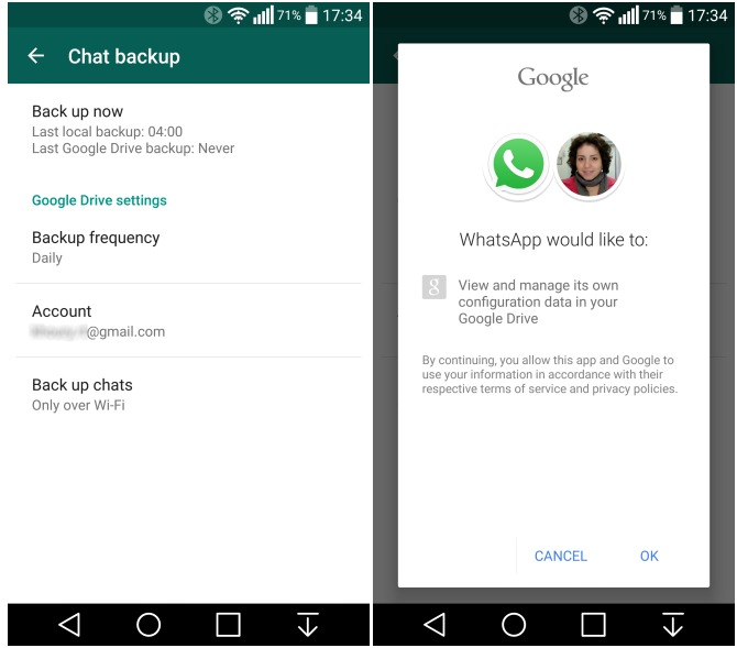 WhatsApp 2.12.45 Adds The Option To Back Up And Restore From Google Drive