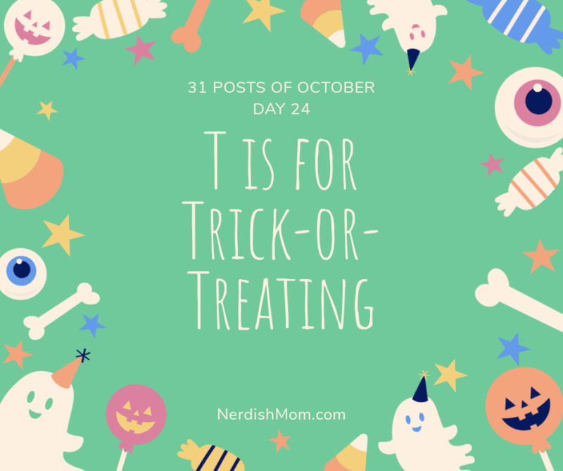 t is for trick-or-treating