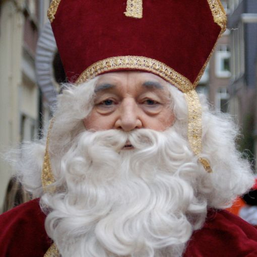 Photo of Sinterklaas (St. Nicholas) from the Netherlands.