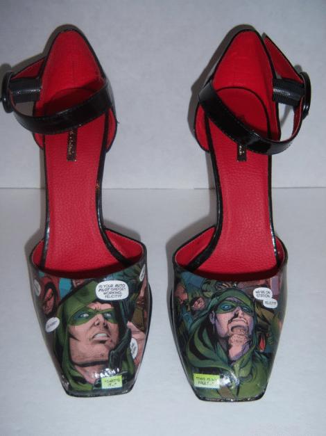Green Arrow Inspired Heels [Etsy]